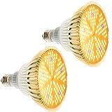 [2 Stück] Pflanzenlampe 100W E27 Pflanzenlicht Grow Light, 150 LEDs Pflanzenlampen Vollspektrum Pflanzenleuchte Grow Lampe, Wachstumslampe für Pflanzen Garten Gewächshaus Blüte Blumen und Gemüse