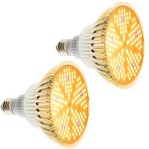 [2 Pack] Lampade per Piante 100W E27 Lampada Grow, 150 LEDs Lampada Piante Coltivazione Spettro Completo Luce LED Piante Grow Light, Lampada Piante per da Giardino Fiorite in Serra Fiori e Ortaggi