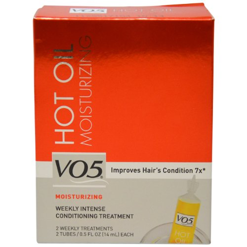 Alberto VO5 Moisturizing Hot Oil Treatment, 0.5 Ounce, 2-Count Tubes (Pack of 6)