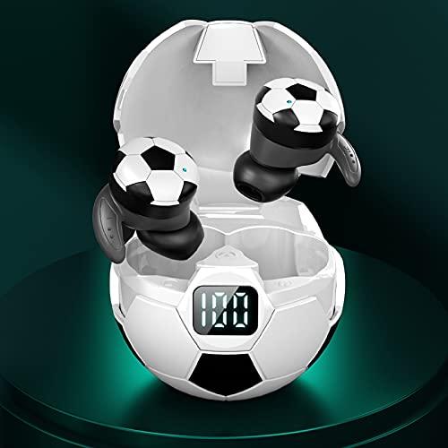 GXYGXY Auriculares Bluetooth para fútbol, Auriculares inalámbricos de fútbol Abiertos 5.1 estéreo a Prueba de Agua con micrófono de reducción de Ruido Incorporado, adecuados para Correr, Hacer