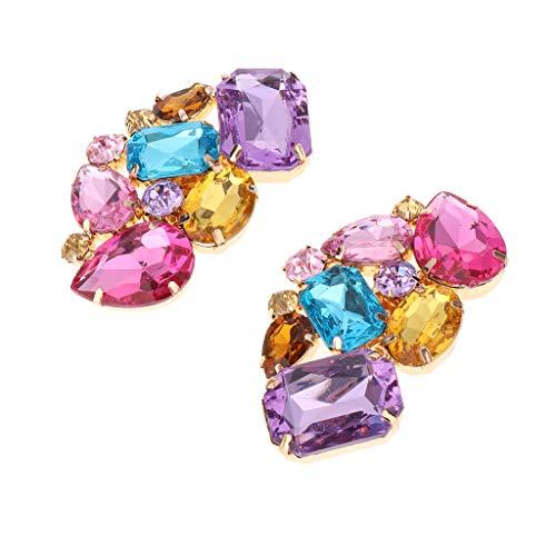 B Blesiya Clip de Zapatos Nupciales con Diamantes Artificiales Brillantes Broche Cristalino...