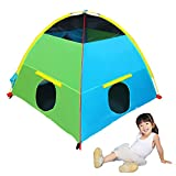 "Houseables Tent, Play House, 58"" x 58"" x 46"", 8 PCS, Multi-Color, Large, Nylon, Pop Up Tents, Backyard Camping, Outdoor, Indoor, Playhouse, Toys, Childrens Playhouses, Fort, for Kids, Child, Girls"