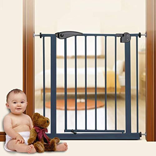 PNFP beschermingsrooster voor honden peuters kinderen, zwart metaal Pet Gates voor gang, deuren, trappen, indoor, 65-204 breed