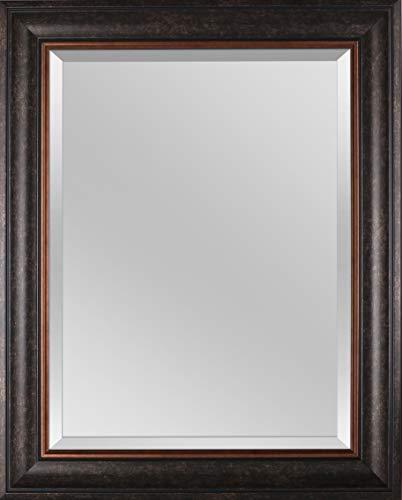Mirrorize Rectangular Framed Beveled Wall, 24' x 30', Brown Bronze Finish