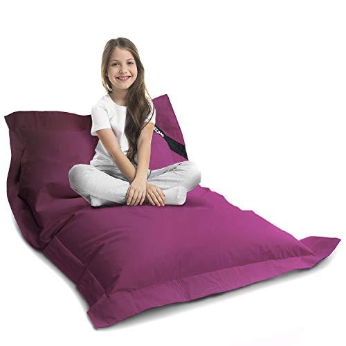 Lazy Bag Original Indoor & Outdoor Sitzsack XL 250 Liter Riesensitzsack Junior-Sitzkissen Sessel für Kinder & Erwachsene 160x120 (Violett)