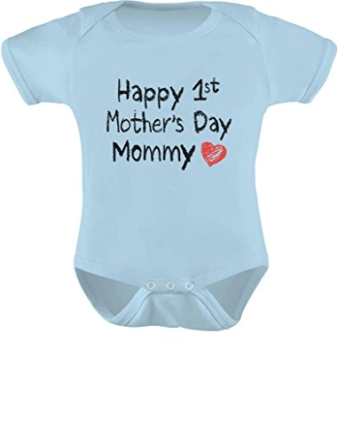 Happy First Mothers Day Mommy Baby Bodysuit