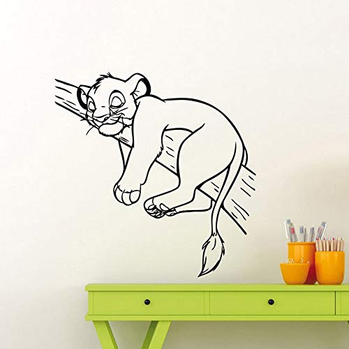 Roi Lion Sticker Simba Bande Dessinée Autocollant Maison Chambre Pépinière Garçon Fille Bébé Enfants Chambre Art Décor Mural
