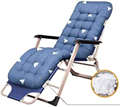 High-quality recliner Folding Recliner For Adults Outdoor Rocking Zero Gravity Deck Chair For Patio Porch Garden Terrace Camping Lawn Stands 200 Kg (Color : Blue)