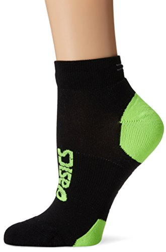 ASICS lite-show Nimbus Low Socks, Damen Mädchen Jungen Herren, Black/Green Gecko, Large