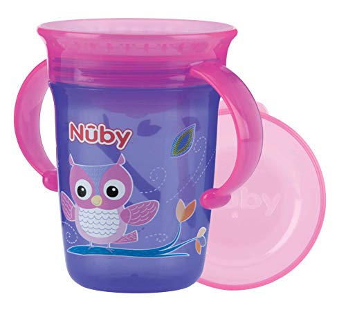 Nûby - 360° Wonder cup met Griffen - Lila - 240ml - 6 Monate