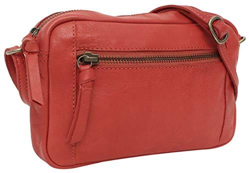 Gusti Umhängetasche Leder - Dominic Handtasche Schultertasche Partytasche Festivaltasche Ledertasche Vintage Rot
