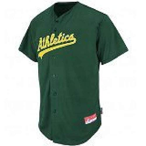 Oakland Athletics Adult Small Full Button Cool Base MLB Replica Jersey
