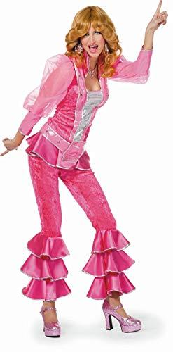 TH-MP Disfraz de los años 70 para mujer, 3 piezas, ropa de discoteca, Queen (rosa, 36)