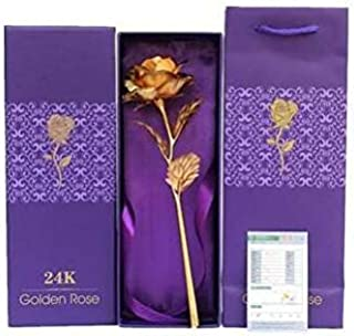 24k Gold Rose Flower - Big Rose with Gift Box