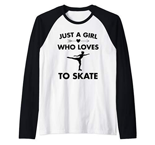 Eiskunstlauf-Eislauf nur ein Mädchen, das gerne Schlittschuh Raglan