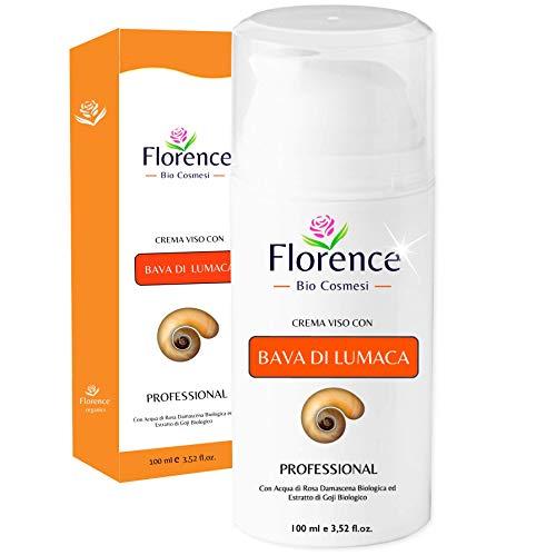 Slakkenslijm gezichtscrème met hyaluronzuur, collageen en vitamine C, E●Anti-aging, anti-rimpel, anti-vlekkengel crème voor gezicht, nek, oogcontouren en decolleté voor dag/nacht●100 ml