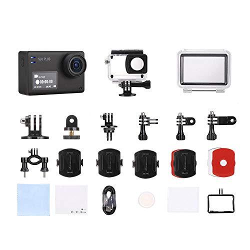 Tanke Action Camera - SJ8 Plus 4K HD WiFi Impermeabile Dual Screen Action Sports Camera Kit di Accessori, 2,36x1,57x1,18 Pollici