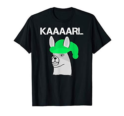 Lamas mit Hüten Karl was hast du getan ? lustiges Lama T-Shirt