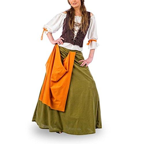 Moyen-Âge - Servante Costume Médiéval - Déguisement Femme - S