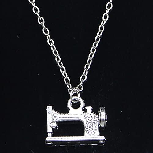ZOJK Collar 20X15Mm Vintage Máquina De Coser Pedal Colgantes Corto Largo Mujeres Hombres Colar Gargantilla Regalo De La Joyería