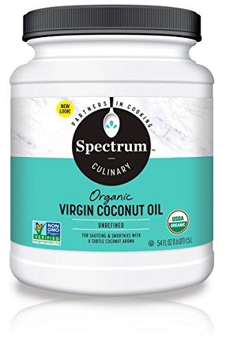 Spectrum Organic Coconut Oil for Cooking, Virgin, Unrefined, 54 fl. oz.