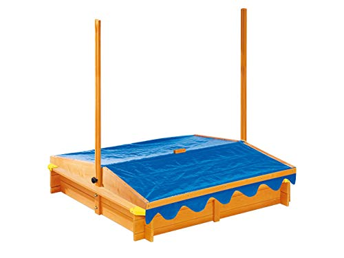 pro-manufactur Sandkasten mit Dach und Spielecke inkl. Bodenplane - 2
