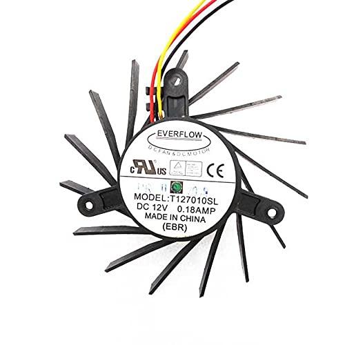 EVERFLOW T127010SL 12V 0.18A 3Wire 15Blade Video Fan,Size: 43x45x52mm