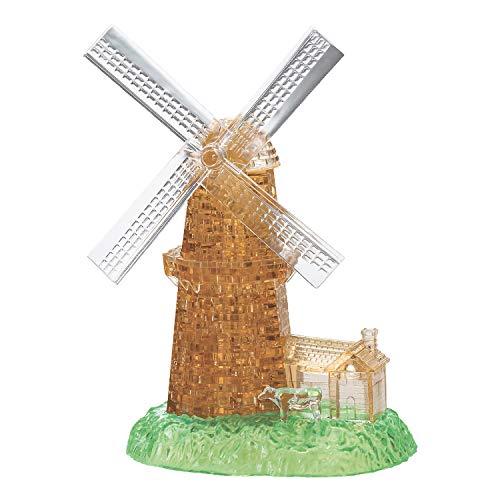 HCM Kinzel Crystal Puzzle 59169 - Windmühle, 3D-Puzzle