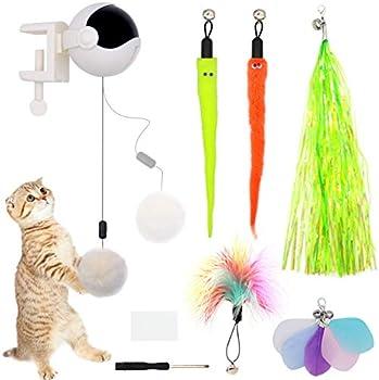 ZALALOVA Interactive Automatic Lifting Cat Teaser Ball Toys