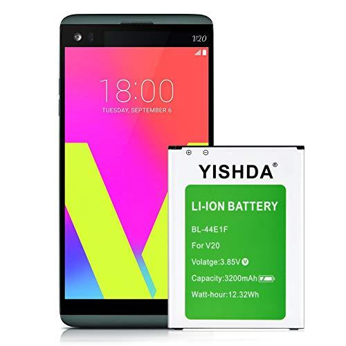 LG V20 Battery, YISHDA 3200mAh Replacement LG BL-44E1F Battery for LG V20 H910 H918 LS997 US996 VS995 Cell Phone | LG V20 Spare Battery
