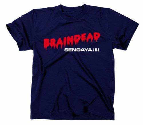 #2 Braindead Dead Alive Kult Horror T-Shirt, Navy, L