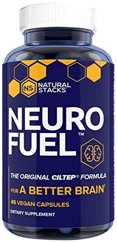 Natural Stacks Neurofuel 45 ct. - Sharpen Focus and Improved Memory - Original CILTEP Formula - Nootropic Supplement for Brain - All Natural Artichoke Herbal Supplement w/Forksolin