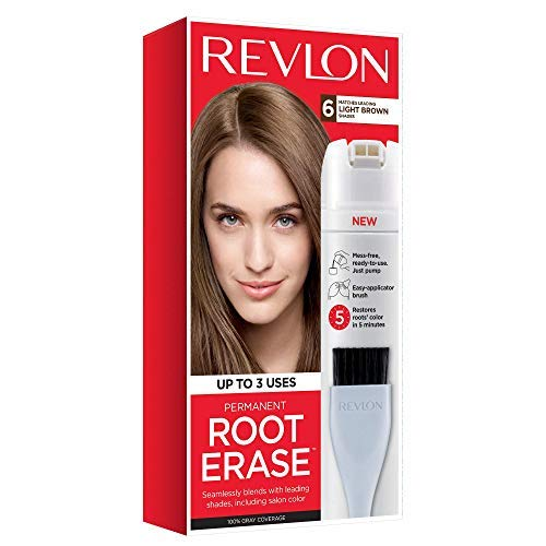 Revlon Root Erase Permanent Hair Color, Light Brown, 3.2 Fluid Ounce