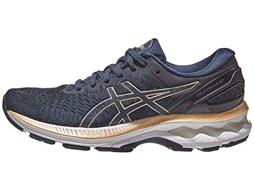 ASICS Women's Gel-Kayano 27 Running Shoes, 9.5M, French Blue/Champagne