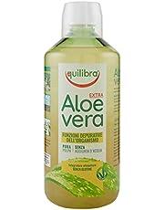 Equilibra Integratori Alimentari, Aloe Vera Extra, Integratore Aloe Vera da Bere Puro o Diluire in Altra Bevanda al Mattino, Depurativo, Prodotto Vegano, Senza Glutine, 1 Litro
