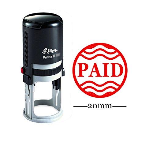 Printtoo Auto Inchiostrazione Timbro PAID Red Ink Utilizzare Office bollo Colop
