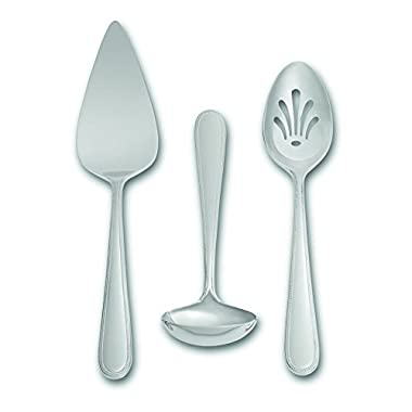 Wedgwood 3 Vera Infinity Piece Serving Set, Silver