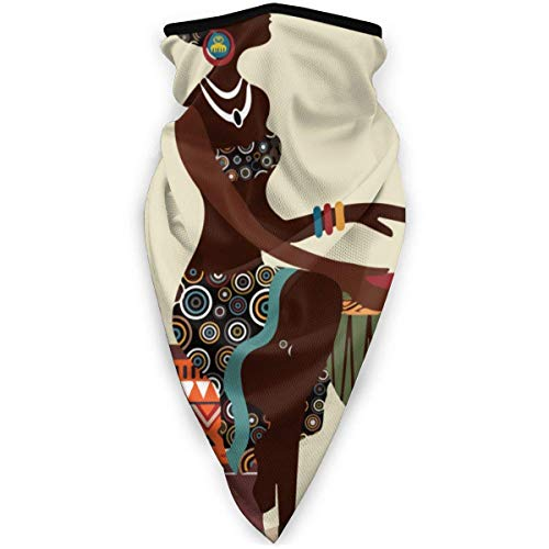 artyly Afrikanische Frauen Beat Drum Outdoor Gesicht Mundschutz Winddicht Sport Skischal Schild Bandana für Männer Frau