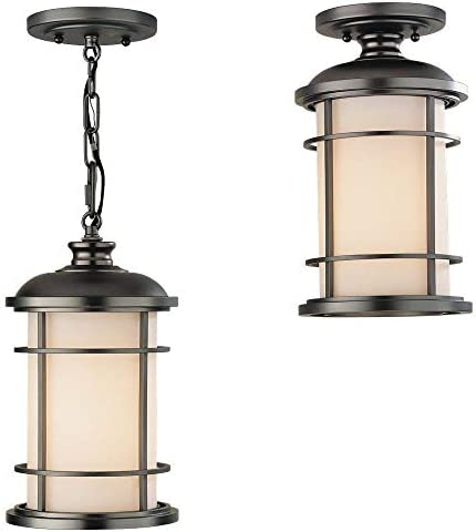 Feiss One Murray OL2209BB Lighthouse Pendant 1 Light 100 Watts Burnished Bronze product image