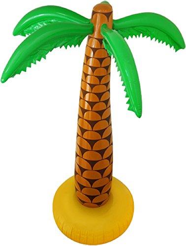 Angies Juguetes inflables para soplar, banana, guitarra, mono boom caja de Halloween, ciervo hawaiano, fiesta de disfraces (palmera inflable de 168 cm)
