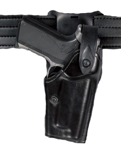 Safariland 6285Nivel II SLS retención Deber Holster, Cinturón de 1,5Pulgadas Gota, Negro, Plain, Glock 17, 22