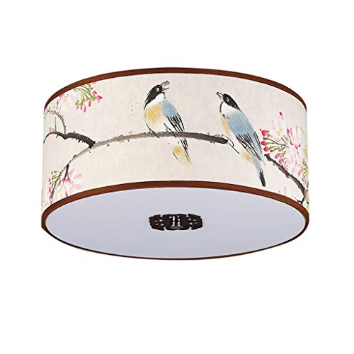 Duurzame plafondlampen klassieke creatieve plafondlampen, eenvoudige plafondlamp voor woonkamer studiekamer slaapkamer, doek lampenkap plafondverlichting plafondlampen (kleur: L-50 * 20cm-E27*4), kleur: S-4