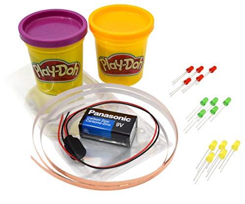 Modeling Dough Circuit Kit - Includes Modeling Dough, Batter, LED Lights, 12