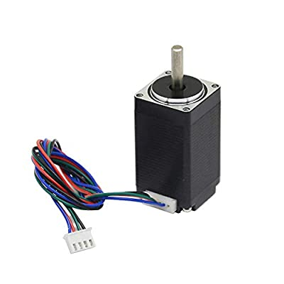 Iverntech Nema 11 Stepper Motor 28x52mm Body 1.8 Stepper Angle 0.6A 2 Phase 4-Lead with 50CM Cable for 3D Printer, CNC Machine and Robotics