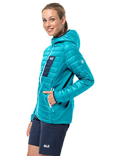 Jack Wolfskin Damen Routeburn Jacket W Steppjacke, dark aqua, M EU