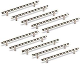 10 stuks SOTECH Meubelgrepen G14 echt RVS Stangen-diameter 10 mm voor kastfronten met 192 mm boorgatafstand