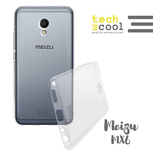 Funnytech® Funda Transparente para Meizu Mx6 I [Gel Silicona Flexible [Ultra Slim 1,5 mm - Gran Resistencia] [Acabado Brillo con Tratamiento Anti-Huellas y Manchas]