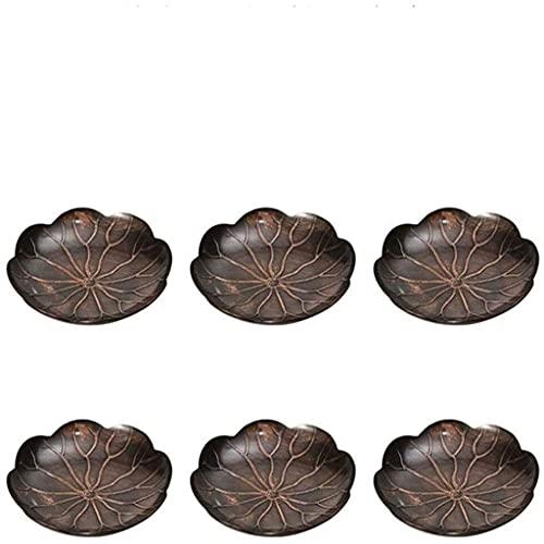 Juego de ollas de sake japonés, juego de regalo de posavasos de cobre, decoración del hogar antideslizante resistente al calor en forma de loto de cobre puro con un diámetro de 4 pulgadas, utilizado p
