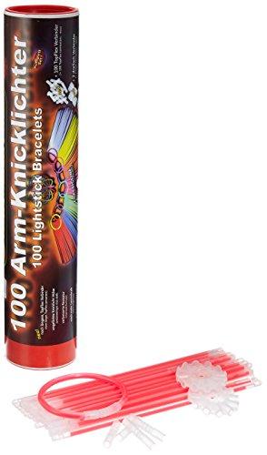 100 Knicklichter Rot | inkl. 100x TopFlex | 2x Dreifach | 2x Ball Verbinder | Premiumqualität