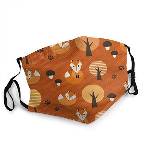 ZVEZVI Fondo con zorros boca cuello polaina bufanda personalizada lavable media cara máscara con orejera ajustable divertido pasamontañas pañal